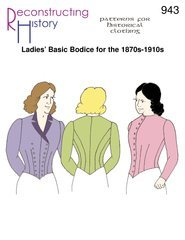 Titanic Edwardian Sewing Patterns- Dresses, Blouses, Corsets, Costumes Ladies Basic Bodice for the 1870s-1910s Pattern $16.95 AT vintagedancer.com