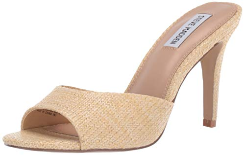 (Steve Madden Women's Erin Pump, Natural Raffia, 8.5 M US)