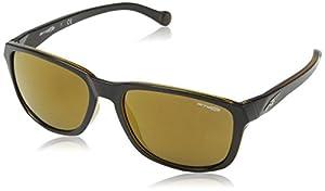 Arnette Straight Cut Unisex Sunglasses - 2271/7D Black/Amber/Brown Mirror