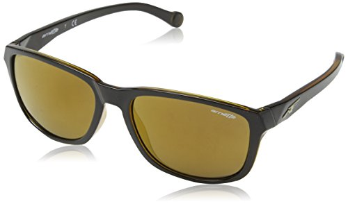 Arnette Straight Cut Unisex Sunglasses - 2271/7D Black/Amber/Brown - Brown Sunglasses Arnette