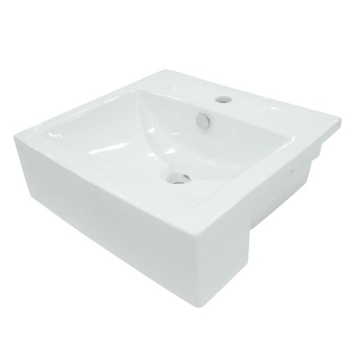 Elements of Design EV4034 Vitreous china Above counter Rectangular Bathroom Sink, 24.41 x 20.87 x 12.6 inches, White
