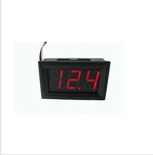 KINWAT 4.5-30V DC Car Motor Red LED Digital Voltmeter Gauge Volt Voltage Panel Meter - Free Tester Motherboard
