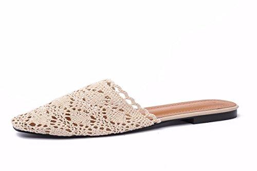 Pantoufles Kphy Pour t Maille Femmes Abricot Tte Tissu Femmes Fond En Couleur Chaussures Tiss Trente cinq Pain EUrqUpRn