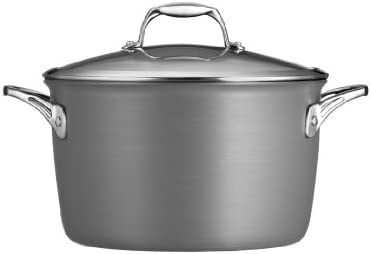 Tramontina 80123 013DS Gourmet Heavy-Gauge Aluminum Nonstick Covered Stock Pot, 8-Quart, Hard Anodized