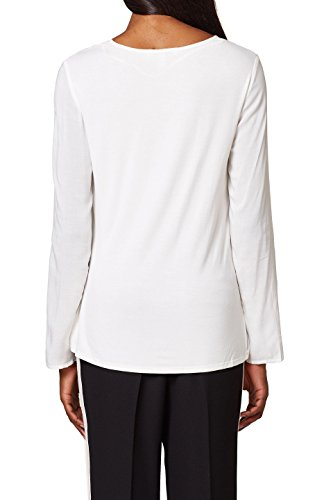 Off Esprit White 110 Blanc Blouse Femme ZZtBwqxSf