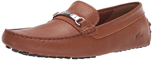 Lacoste Men's ANSTED 318 1 U Driving Style Loafer, tan/black, 9 Medium US (For Moccasins Lacoste Men)