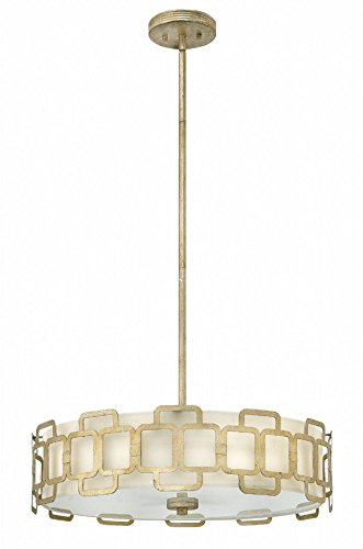 Hinkley 4914SL Transitional Four Light Stem Hung Pendant Foyer from Sabina collection in Pwt, Nckl, B/S, Slvr.finish,
