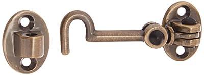 Baldwin 0950050 Cabin Door Hook, Antique Brass