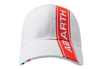 f62e72acb08 Genuine Abarth Cap White With Red Band - Official Abarth  Amazon.co ...