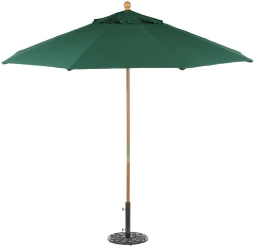 Oxford Garden Sunbrella 9-Foot Market Umbrella, Hunter Green
