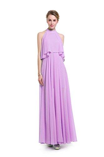 Europa Und Volltonfarbe Rundhals Kleid Auf Einem Großen Spliss Setzen Purple