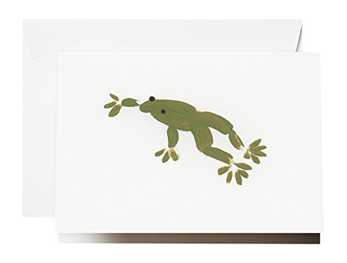 - Crane & Co. Brushstroke Frog Note (CF1624)