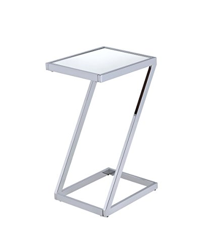 Acme Furniture Acme 81822 Laina Side Table, Mirror & Chrome, One Size by Acme Furniture