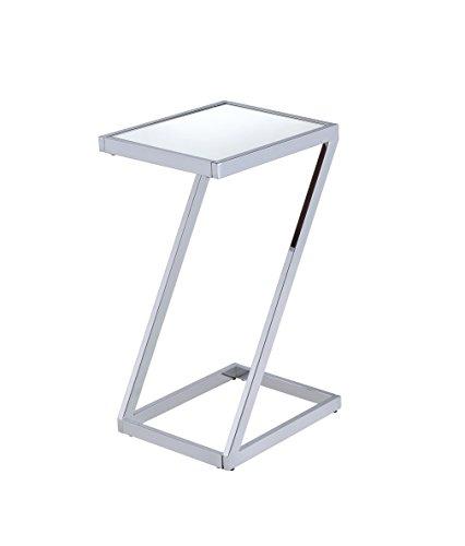 ACME Furniture Acme Laina Side Table, Mirror Chrome, One Size