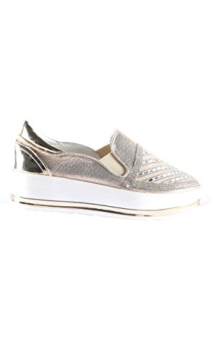 Hadari Fashion Shoes Casual Womens Womens Slip On Hadari Slip Casual Fashion Gold On Sneakers ggnAXx