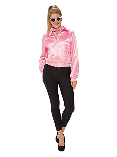 Rubie's Costume Co. Women's Grease, Pink Ladies Plus Costume Jacket, As Shown, One Size - Frenchie Costume Plus Size