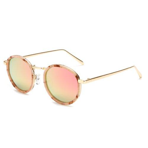 Conducción Senderismo De Retro rosa De Sol Ocio Gafas Round De Shopping de De Sol Solgafas De Polarizadas Gafas leopardo Plata Lady De Limotai Fiesta Marco Viaje 4WRxnOqwW