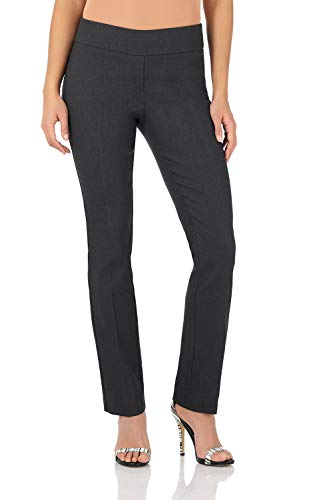 Rekucci Women's Ease in to Comfort Straight Leg Pant with Tummy Control (12SHORT,DK ()