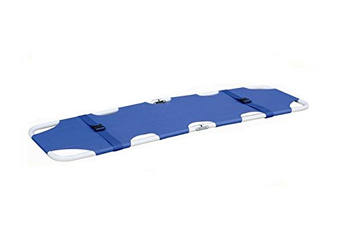 Medical Foldaway Stretcher Blue Portable Emergency Equipm...