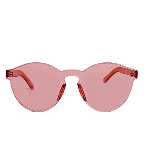 Vino Montura Sin Marco Redondas Rojo Sin Espejo Club Gafas Polarizadas Wayfarer Keepwin Reflexivo Sol de Iw6xqFXOz