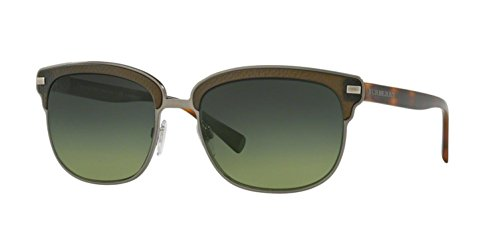 Burberry  Men's 0BE4232 Brushed Gunmetal/Matte Green - Burberry Price Sunglasses