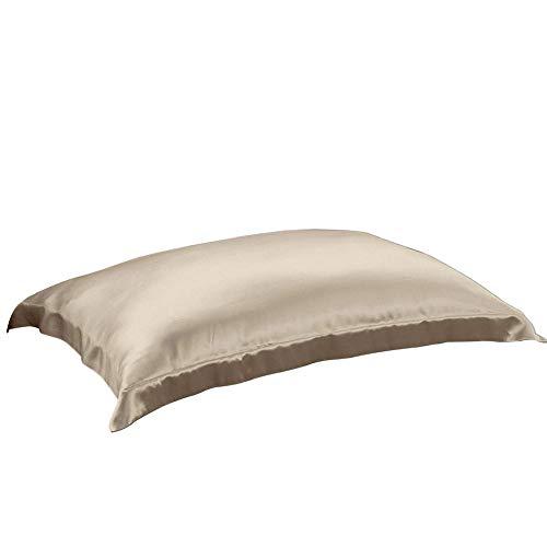 THXSILK 100% 19mm Mulberry Silk Pillowcase Pillow Sham for Hair and Skin (Vanilla, Standard)