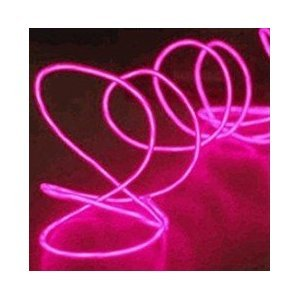 Usahitec JYtrend (TM) 9ft Neon Glowing Strobing Electroluminescent Wires (El Wire) + Controller, Pink