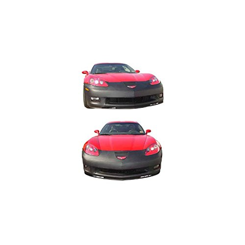 Eckler's Premier Quality Products 25-170905 - Corvette Covercraft Colgan Nose Mask Without License Plate Opening Black Z06/Grand Sport