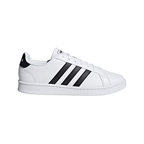 adidas Men's Grand Court, Black/White, 9 M US