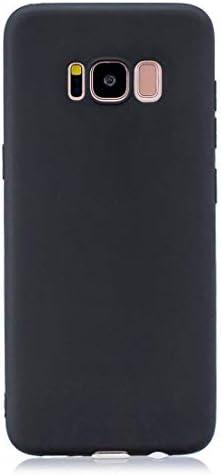 あなたの携帯電話を保護する Galaxy S8 +用のつや消しソリッドカラーTPU保護ケース (色 : ブラック)
