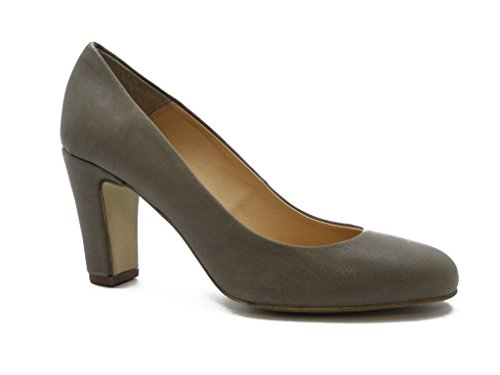 7 cm non Decollete Flowers sole QQ301 rubber Grey and of Leather and Summer merchant Heels lightweight q7qpRYfXw