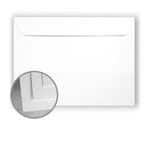 Astrolite Brilliant White Envelopes - No. 9 1/2 Booklet (9 x 12) 28/70 lb Writing/Text Vellum 500 per Carton by Monadnock Paper Mills Astrolite