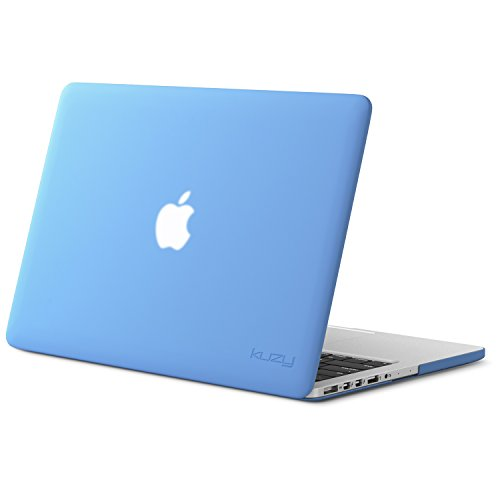 Kuzy - Rubberized Hard Case for Older MacBook Pro 13.3 with Retina Display A1502 / A1425 13-inch Plastic Shell Cover - Serenity Blue