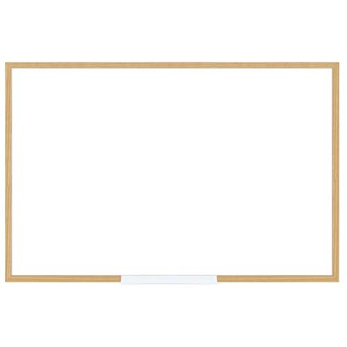 - FORAY Dry-Erase Board with Oak Frame, 24