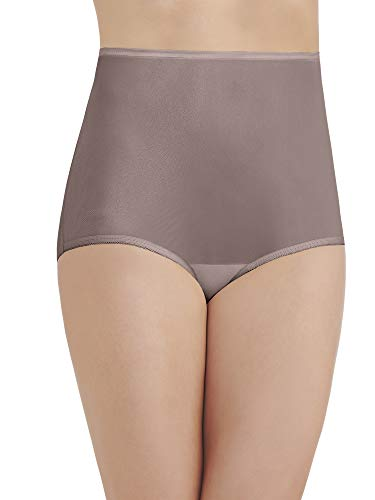 Vanity Fair Women's Perfectly Yours Ravissant Tailored Nylon Brief Panty - Size X-Large / 8 - Walnut