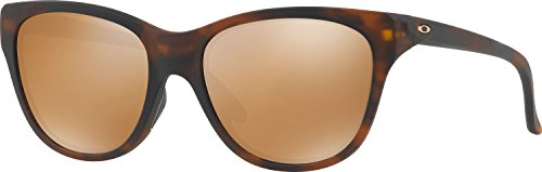 Oakley Women's Hold Out Non-Polarized Iridium Cateye Sunglasses, Matte Brown Tortoise, 55 - Out Oakley Hold