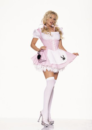 Silber Pierre Costumes (LIL Miss Muffett Pink Adult Costume Size)