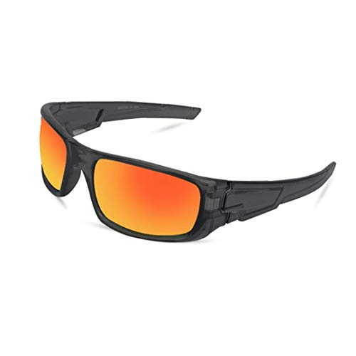 EraseSIZE 100% UV protection Safety Goggles, 5 Colors Polarized Sports Sunglasses With Unbreakable Frame, Best for Men and Women Cycling Running Driving Fishing (Orange)