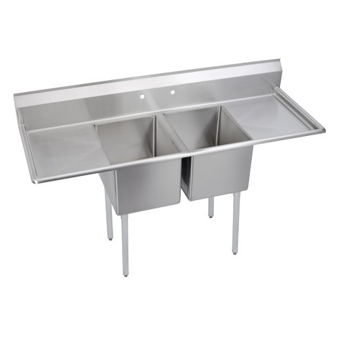 "Standard Scullery Sink, 2-Compartment 14"" Deep Bowl(S), 18"" Left & Right Drainboards, 70 (L) X 25.75 (W) X 43.75 (H) Over All"