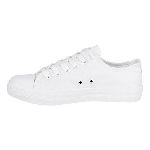 46 für Sportschuhe Schuhe White Bequeme Textil Basic Elara Low Herren 36 Unisex Sneaker All Damen und Top Turnschuh cH1UwBUqW