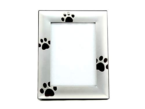 Skyway Puppy Dog Paw Print Pet Photo Picture Frame Silver - 4 x 6 (Dog Frame Picture Metal)