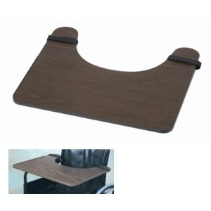 Alimed DMI Wheelchair Tray, Hardwood, (24'' x 20'' x 1/2'')