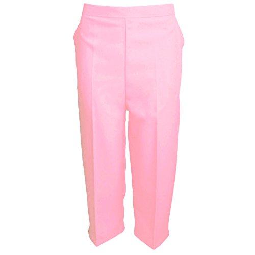 Pantaloni Capri unita donna 4 42 e a MyShoeStore 3 tinta semi estivi da 58 misure elasticizzati a Rosa nbsp;da in pdwqy1