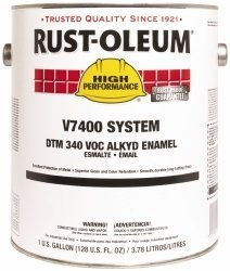 Rust-Oleum V7400 Series <340 Voc Dtm Alkyd Enamel, Safety Orange Gallon Can - Lot of 2 by Rust-Oleum (Image #1)