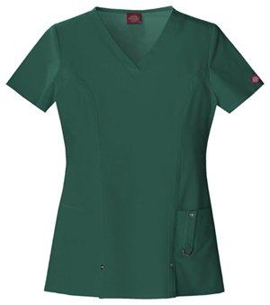 Dickies Women's Xtreme Stretch V-Neck Scrubs Shirt, Hunter, XXXX-Large ()