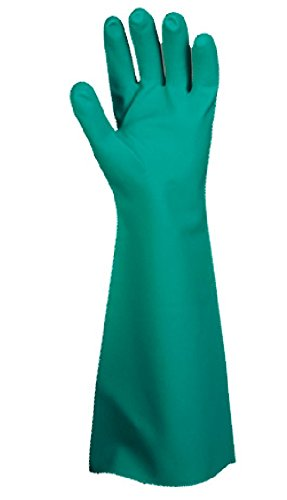 Cordova Safety Products 4522L Premium Unlined 18'' Nitrile Gloves with Enhanced Grip, Large
