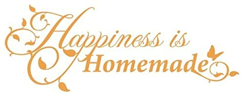 Stickers Vinyl Wall Art Decals Letters Quotes Decoration Happiness is Homemade for Living Room ()