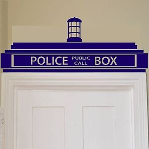 Iconic Stickers   Doctor Who Tardis Police Box Wall Sticker / Decor Design  Kids Transfer Vinyl