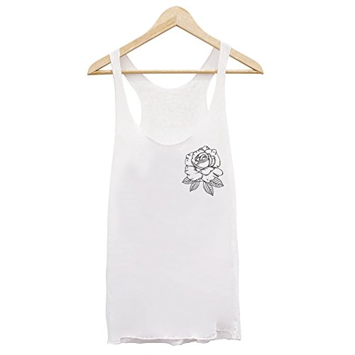 Canotta Donna Bianca Rose Logo - bianco, M