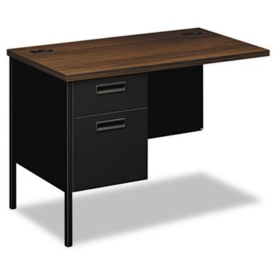Metro Classic Series Workstation Return, Left, 42w x 24d, Columbian Walnut/Black, Sold as 1 Each by Generic